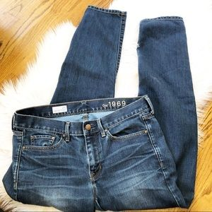 GAP Sexy Boyfriend Dark Wash Jeans